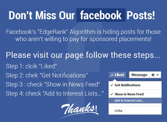 Посты Facebook не работают- блог веб -студия Эраунд