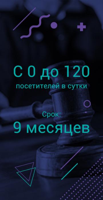 Кейс продвижения юридического сайта