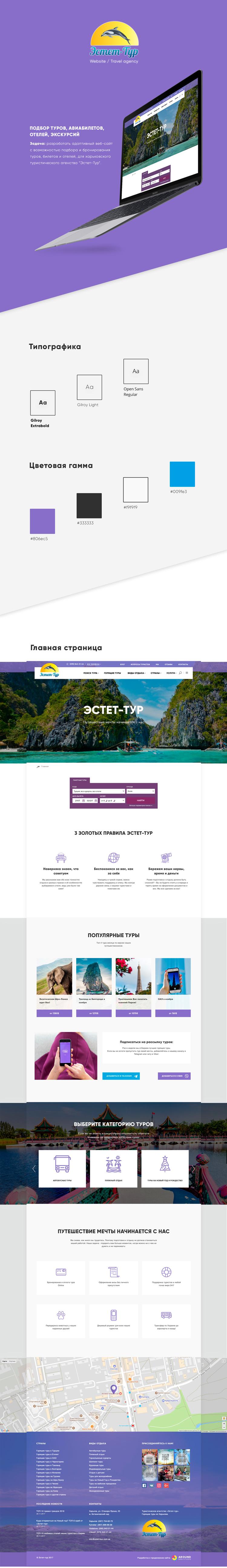 """Разработка вэб-сайта для туристичесого агенства """"Эстет-Тур"""""""